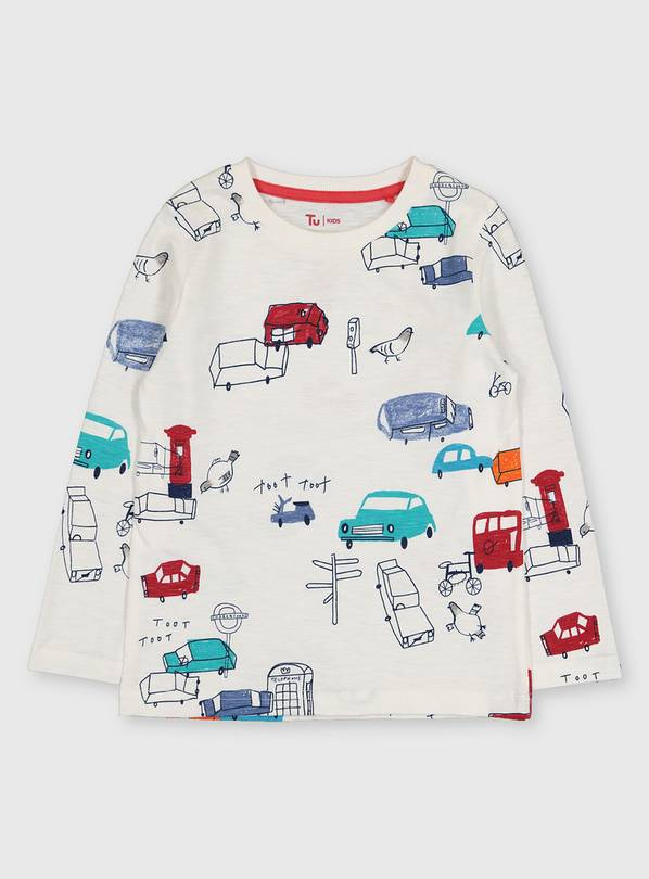 London Car Print T-Shirt - 1.5-2 years